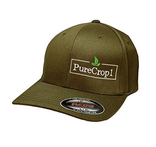 PureCrop1 Olive Logo Hat (L/XL)