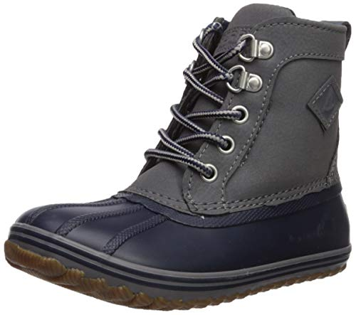 Sperry Boys' Bowline Boot Ankle, Navy/Grey, 7 M US Toddler