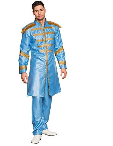 Boland-BOL83682 Disfraz de Sargento Pop para Adulto, color azul claro, 54/56 (Ciao Srl BOL83682)