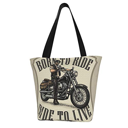Bolso de mano Hombre en el casco de la motocicleta y gafas...