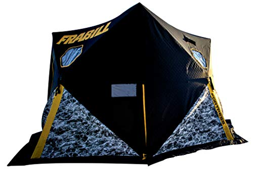 Frabill Shelter Hub Fortress   Heavy-Duty Ice Fishing Shelter with Hub Extensions for Stability & Easy Set Up, Mossy Oak Elements Manta, One Size