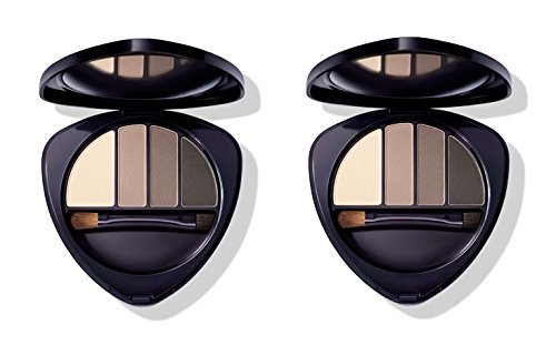 Dr.HAUSCHKA – Eye and Brow Palette 01 Stone 2 boîtes de 4,4 g, Fard à paupières en 100% naturel, tons vellutate et opaques, profondeur et espressività du regard
