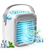Portable Air Conditioner, Personal Air Cooler 3-in-1 Air Conditioner, Compact Evaporative Cooler Air Humidifier, 3 Wind Speed Desktop Air Conditioner Fan, Suitable for Home/Office