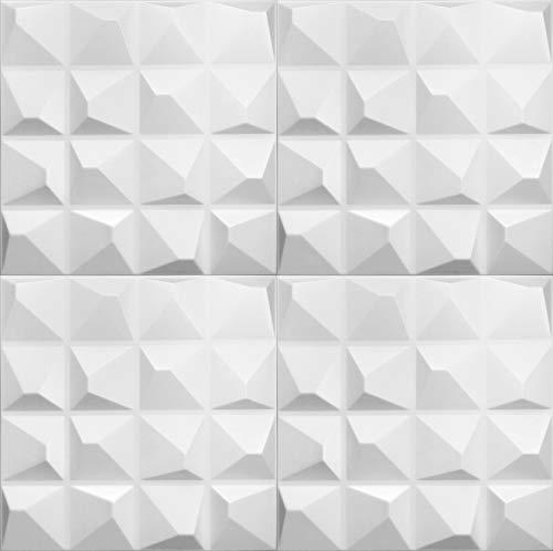 Platten 3D Polystyrol Wand Decke Paneele Wandplatten 50x50cm PYRAMIDE, 10 m², 40 Stück