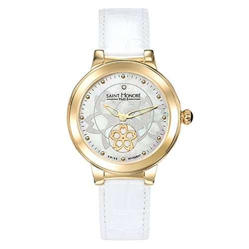Saint Honoré Damen Analog Quarz Uhr mit Leder Armband 7620223FYID