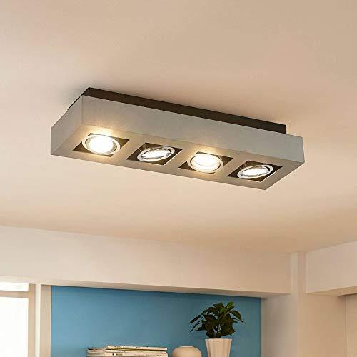 LED Lámpara de techo 'Vince' (Moderno) en Gris hecho de Aluminio e.o. para Pasillos (4 llamas, GU10, A++) de Arcchio   lámpara LED, plafón LED, lámpara de techo