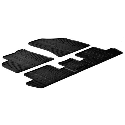 Gledring Set tapis de caoutchouc compatible avec Peugeot 3008/5008 2009-2016 (T profil 5-pièces + clips de montage)