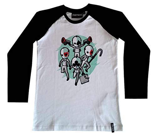 Fortnite - Camiseta para niño de manga larga de High Stakes FORT-3-763C (12 años - 152 cm)