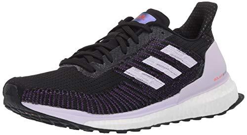 adidas Solar Boost St 19 W Zapatillas de running para mujer, Blanco (Negro/Morado/Rojo Solar), 37 EU