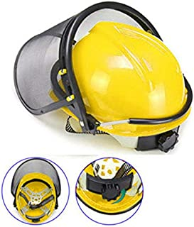 ELECTROPRIME Chainsaw Brushcutter Safety Helmet Cw Metal Mesh Full Visor and Chinstrap