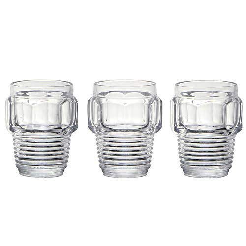 SELETTI Set 3 Bicchieri in Vetro Machine Collection Ø Cm.8,2 H. 10,5