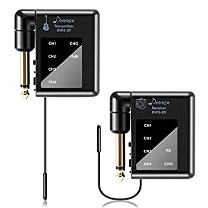 Donner Digital Wireless Gitarre Transmitter Receiver System für E-Gitarre, Bass, Elektro-akustische Gitarre (DWS-2)