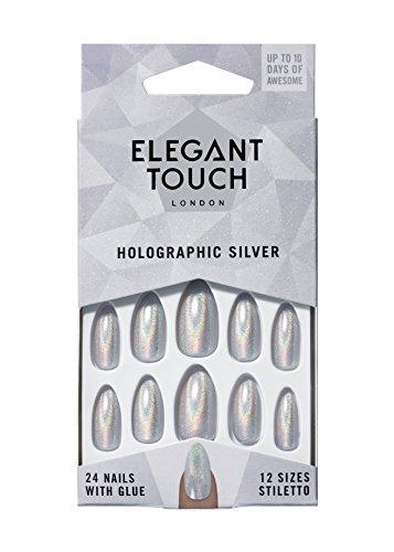 Eylure ET verf nagellak, hologram zilver