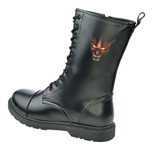 Matthias Kranz 10 Loch UK Knightsbridge Boots Stiefel Dark Creationz mit verschiedenen Motiven (45, Devil 666 Teufel)