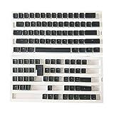 MXEHC Keycaps 1 Set Reemplazable PBT Pudding KeyCaps 108 Teclas De Letras Transparentes Conjunto de Teclas
