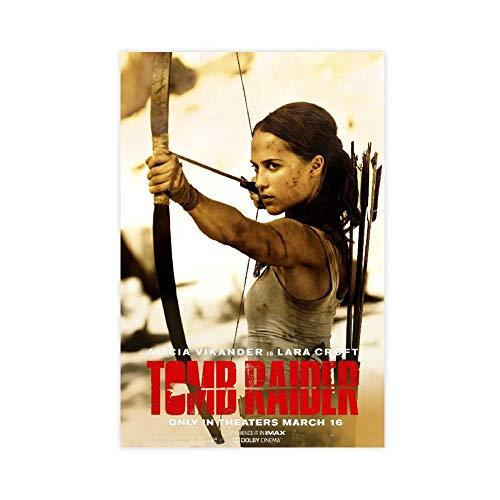 Tomb Raider Película Lara Croft Alicia 2 Póster decorativo Lienzo de pared Arte de sala de estar Póster de dormitorio Pintura 30 × 45 cm Unframe-style1
