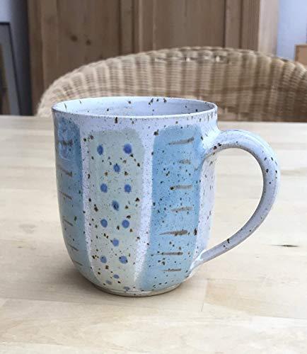 großer Jumbo-Kaffeebecher-480ml-türkisblau-grün-getöpfert