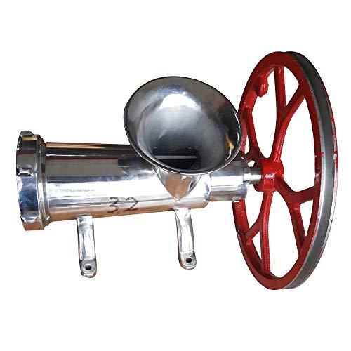 32 Picadora de acero inoxidable 304 Picadora eléctrica manual Picadora de carne Tubos de llenado de salchichas Picadora doméstica de servicio pesado