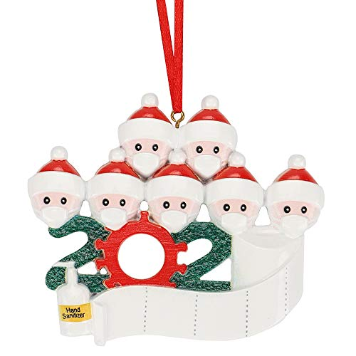 2020 Christmas Ornament Quarantine Kit - Family Ornament Decorating Kits, Christmas Decorations Indoor Christmas Tree Hanging, Party Decor for Family Members (7 Members)