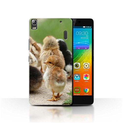 Stuff4 Phone Case for Lenovo A7000 Cute Pet Animals Chick/Chicken Transparent Clear Ultra Slim Thin Hard Back Cover