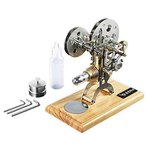 TETAKE Stirlingmotor Bausatz - Retro Äußere Verbrennung Antik Sterling Motoren Stirlingmotor Modell Stirling Engine Kit für Technikinteressierte Bastler - Projektormodell