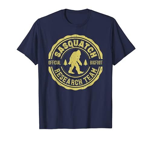 Bigfoot Finding Sasquatch Research Team Men Women Vintage T-Shirt