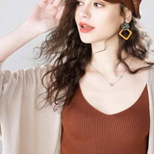 BXM vrouwen driekwart mouw zonnebrandcrème dun gebreide truien vesten Casual V-hals jas