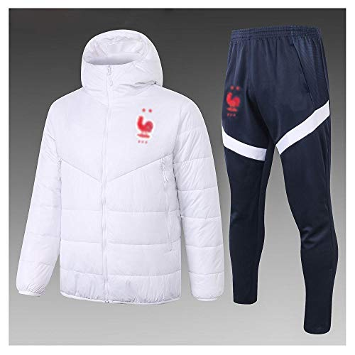 caijj Neue Herren Fußballuniform Geschenk Baumwolle Kleidung Fußball kältesicher Fußballfan kältesicher Anzug Fußball Hoodie männlich-B3-XL