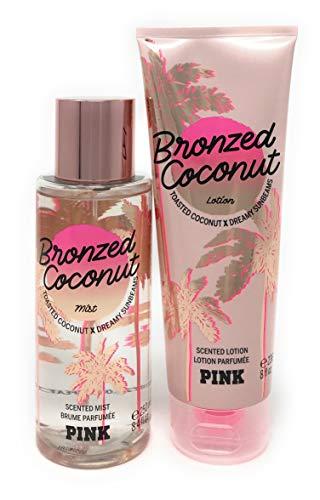 Limited Brands Pink Bronzed Coconut Scented Mist (8.4 fl oz) & Fragrant Body Lotion (8 fl oz) Set