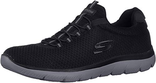Skechers Men's Summits Trainers, Black (Black/Charcoal), 10 UK (45 EU)