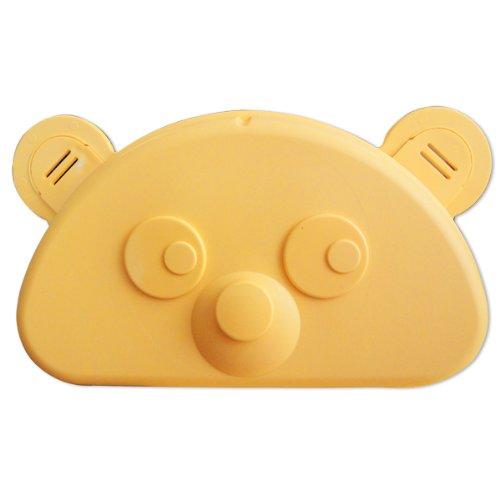 Kinderbrottasche Teddy in gelb aus Kunststoff Maße: ca. 18 x 11 x 6 cm