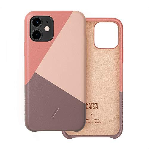 Native Union CLIC Marquetry Hülle für iPhone 11 - Italienisches Nappaleder-Cover - Kompatibel mit iPhone 11 (Rose)