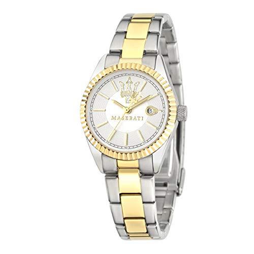 Reloj para Mujer, Colección Competizione, Movimiento de Cuarzo, Solo Tiempo con Fecha, en Acero y PVD Oro - R8853100505