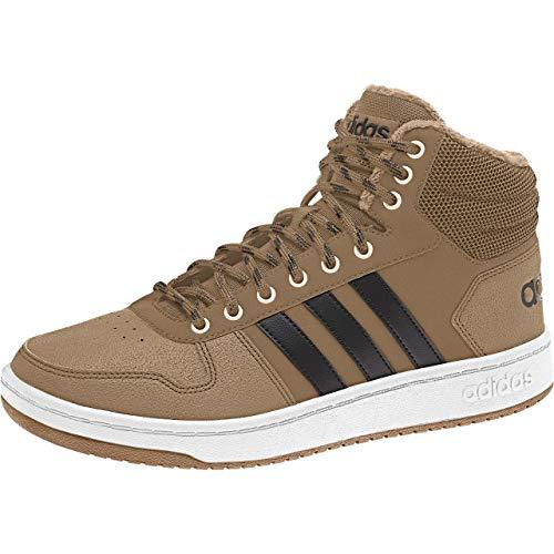 adidas Hoops 2.0 Mid, Scarpe da Basket Uomo, Nero (Cblack/Cblack/Cblack Cblack/Cblack/Cblack), 42 EU