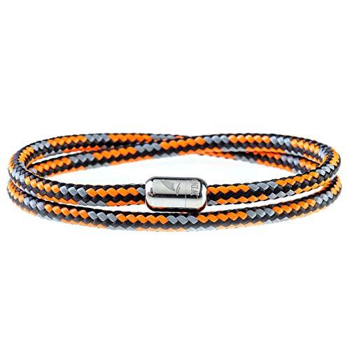 Wind Passion Bracciale Arancione con Magnete Corda Intrecciato Di Altissima Qualità per Uomo e Donna, Taglia XX-Large