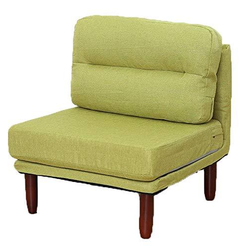 Lisansang Single Chair Detachable Cushion Vintage Seat Accent Chair Sofa Recliner Foldable Chair Armchair (Color : Green, Size : 70 * 70 * 69cm)