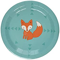 woodland party fox plates