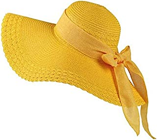 Hat Straw hat Straw Wide Brim Hat Womens Sun Hats Packable Summer Sun Straw Hat Foldable Adjustable with Chin Strap Sun Hat for Ladies Summer Vacation Seaside Holiday Sun hat Panama hat