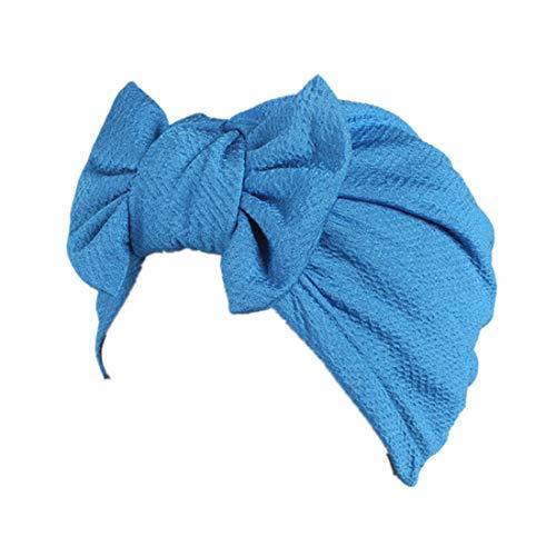 Qhome - Sombrero de Turbante con Lazo Mujer - Azul - en