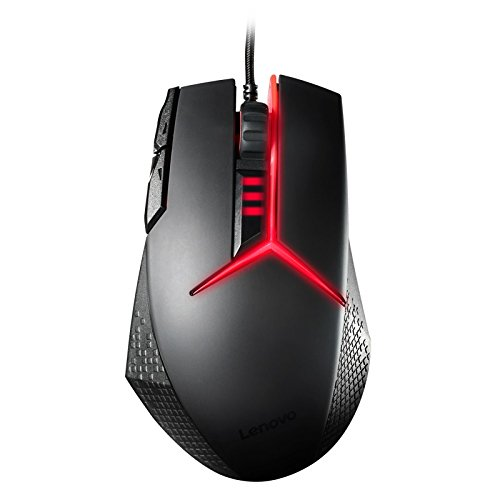 Lenovo Y (Precision Gaming Mouse with 8200 DPI – Up to 1000Hz Polling Rate, 9 Programmable Buttons, Five Different Weight – Black/Red
