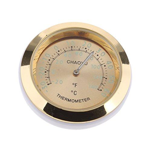 non-brand Thermometer für Auto innen oder außen, um 360 Grad gedreht, hoher Genauigkeit - Gold