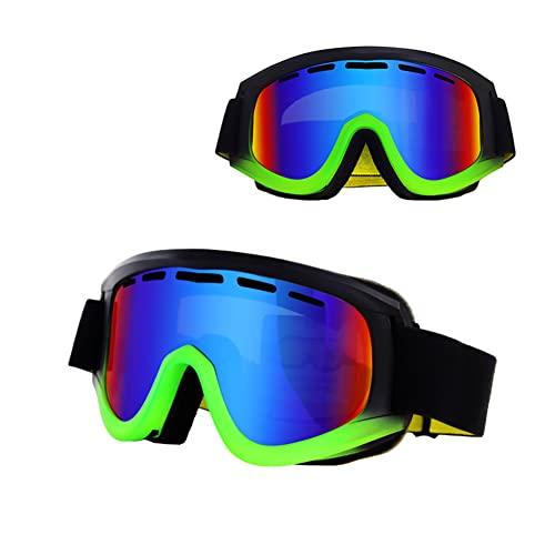 XJST Occhiali da Sci, Occhiali Anti-Abbagliamento per Lo Snowboard per Lo Snowboard, per Gli Uomini Donne Giovanili, Casco Compatibile, Antiscivolo, Resistente agli Impatti, Antivento