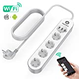 TAOCOCO Regleta inteligente, Smart Power Strip con 4 zócalos y 3 USB, Admite control...