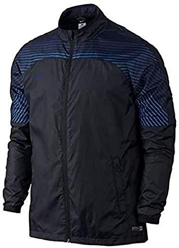 Nike Gewebte - Tuta da Allenamento Revolution GPX Woven Jacket II, Uomo, Giacca, 725911-011, Nero/Blu Royal Scuro, L
