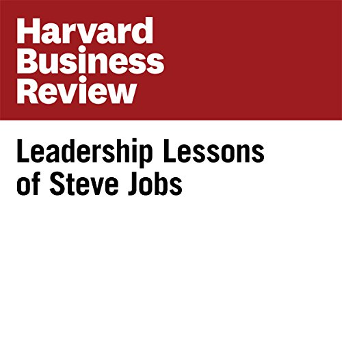 Leadership Lessons of Steve Jobs audiobook cover art