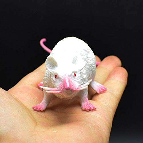 ENticerowts Juguete de Halloween de 22 cm de PVC, modelo de ratones de simulacin de juguete para nios, regalo de Halloween, juguete complicado para fiesta de broma, realista, color gris