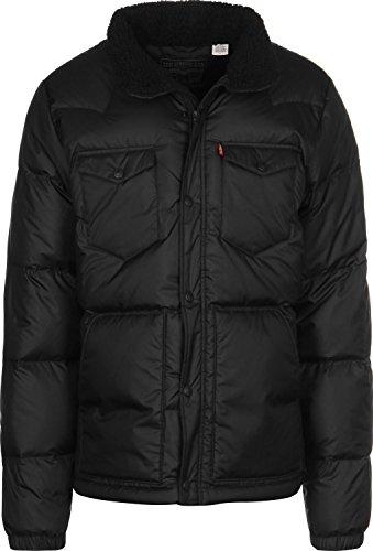 Levi's Down Barstow Puffer Chaqueta, Negro (Black 0000), Medium para Hombre