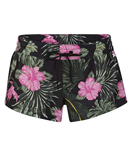 Hurley W Supersuede Lanai Volley Shorts da Surf, Donna, Anthracite, XS