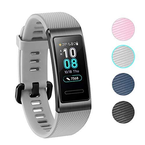 NEWZEROL Ersatz für Huawei Band 3 Pro/4 Pro Armband Schutzband Fitness Tracker-Schnellverschlussriemen für Huawei Band 3 Pro/4 Pro - Grau[Lifetime Replacement Guarantee]