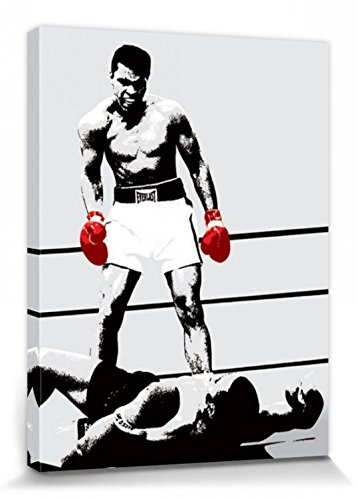 Muhammad Ali 1art1 Boxhandschuhe des Siegers Bilder Leinwand-Bild Auf Keilrahmen | XXL-Wandbild Poster Kunstdruck Als Leinwandbild 80 x 60 cm